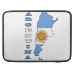 Flag in Map of Argentina Sleeves For MacBook Pro