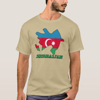 Flag In Map of Azerbaijan T-Shirt