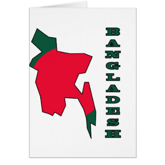 Flag in Map of Bangladesh Card