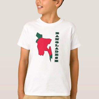 Flag in Map of Bangladesh T-Shirt
