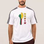 Flag in Map of Benin T Shirts