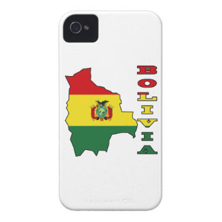 Flag in Map of Bolivia iPhone 4 Cover