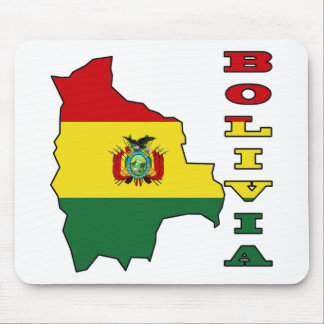 Flag in Map of Bolivia Mouse Pad
