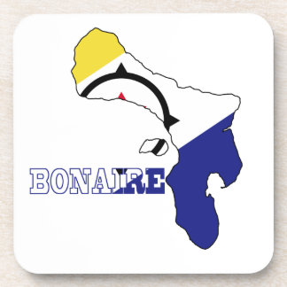 Flag in Map of Bonaire Coasters