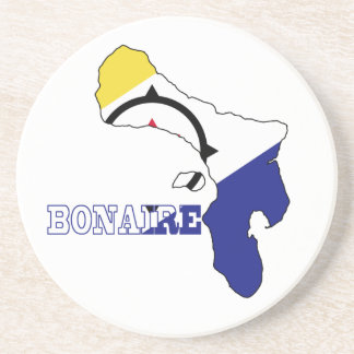 Flag in Map of Bonaire Drink Coaster