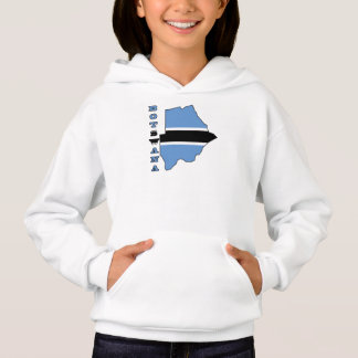 Flag in Map of Botwana Hoodie