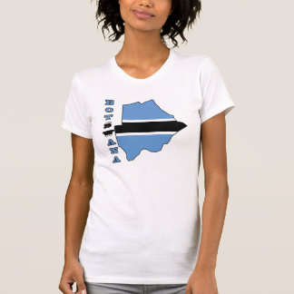 Flag in Map of Botwana T-shirt