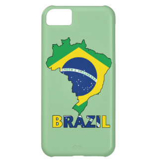 Flag in Map of Brazil Case For iPhone 5C