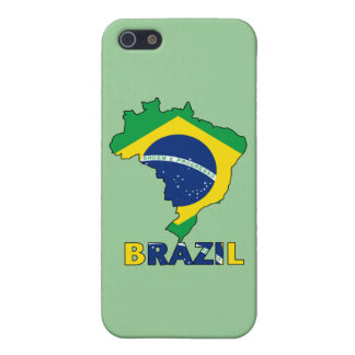 Flag in Map of Brazil Cover For iPhone 5/5S