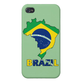 Flag in Map of Brazil iPhone 4/4S Cases