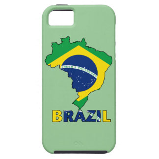 Flag in Map of Brazil iPhone 5 Case