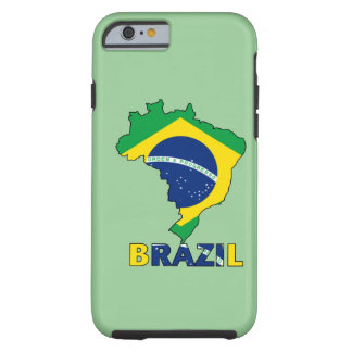 Flag in Map of Brazil iPhone 6 Case