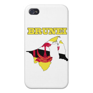Flag in Map of Brunei iPhone 4/4S Cover