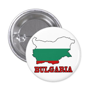 Flag in Map of Bulgaria Pinback Button