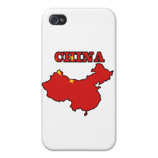 Flag in Map of China Covers For iPhone 4