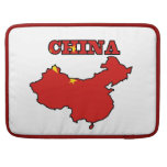 Flag in Map of China Sleeves For MacBook Pro