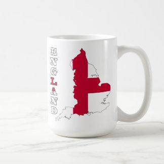 Flag in Map of England Coffee Mug