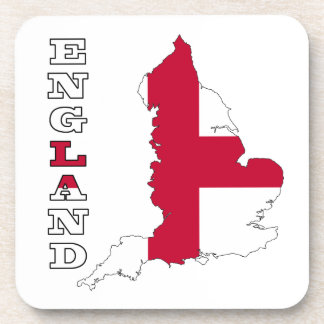 Flag in Map of England Drink Coasters