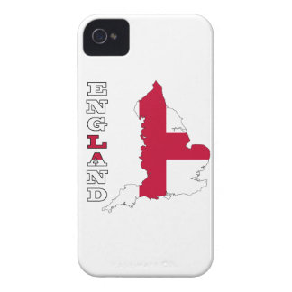 Flag in Map of England iPhone 4 Case