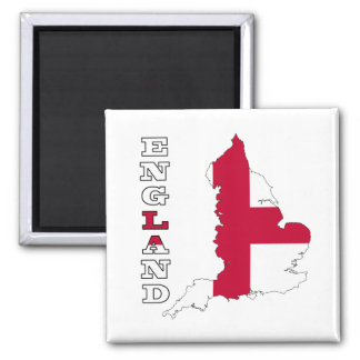 Flag in Map of England Magnet