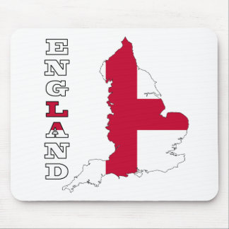 Flag in Map of England Mouse Pad