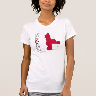 Flag in Map of England T Shirts