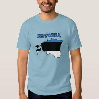 Flag in Map of Estonia Shirt