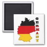 Flag in Map of Germany 2 Inch Square Magnet