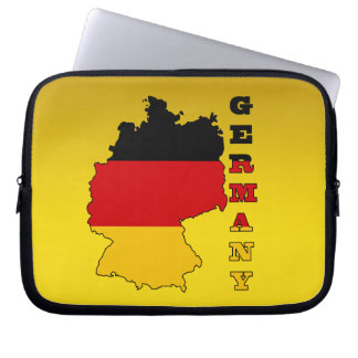 Flag in Map of Germany Laptop Sleeve