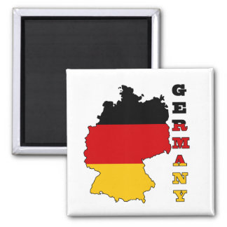 Flag in Map of Germany Refrigerator Magnet