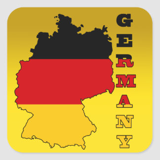 Flag in Map of Germany Square Sticker