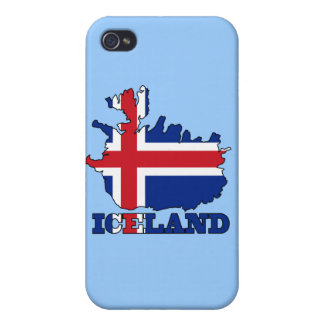 Flag in Map of Iceland iPhone 4/4S Case