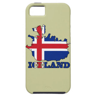 Flag in Map of Iceland iPhone SE/5/5s Case