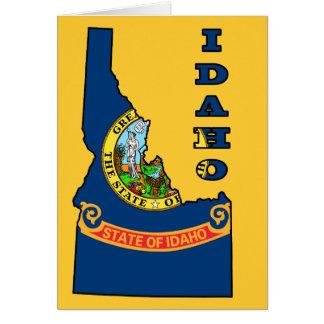 Flag in Map of Idaho Card