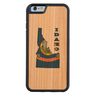 Flag in Map of Idaho Carved Cherry iPhone 6 Bumper Case