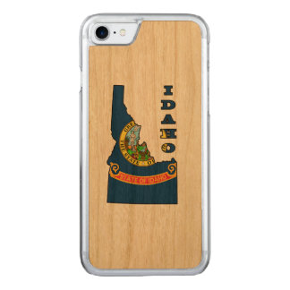 Flag in Map of Idaho Carved iPhone 7 Case