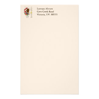 Flag in Map of Illinois Personalized Stationery