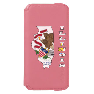 Flag in map of Illinois Incipio Watson™ iPhone 6 Wallet Case