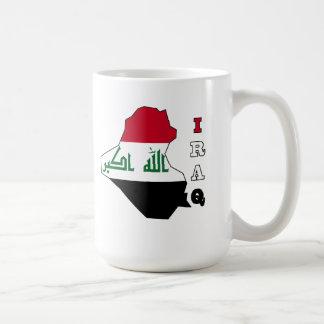 Flag in Map of Iraq Mug