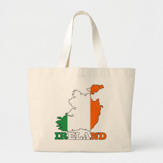 Flag in Map of Ireland Bags