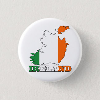 Flag in Map of Ireland Button