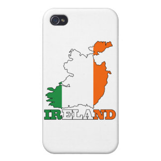 Flag in Map of Ireland iPhone 4/4S Cover