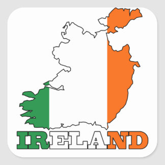 Flag in Map of Ireland Square Sticker