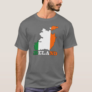Flag in Map of Ireland T-Shirt