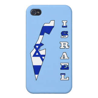 Flag in Map of Israel iPhone 4 Cover