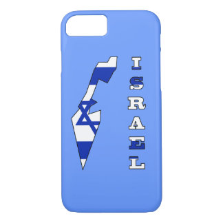 Flag in Map of Israel iPhone 8/7 Case