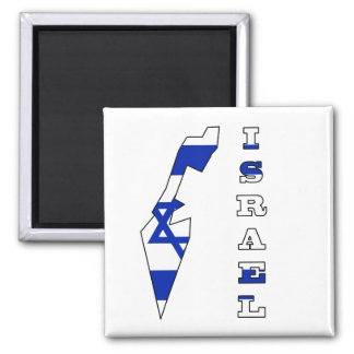 Flag in Map of Israel Magnet