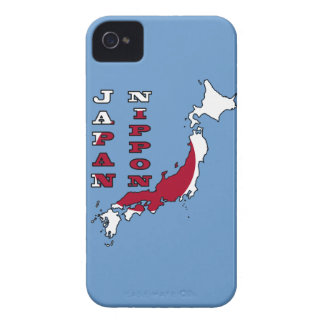 Flag in Map of Japan Case-Mate iPhone 4 Case