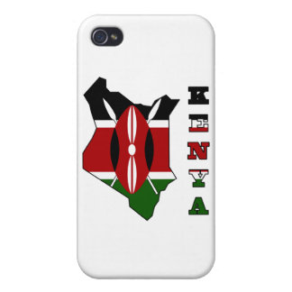 Flag in Map of Kenya Cover For iPhone 4