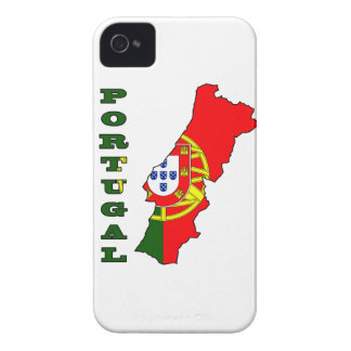 Flag in Map of Portugal iPhone 4 Cover